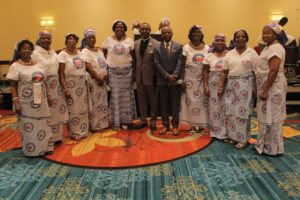 DISTRICT LEADERS WITH AREA CHAIRMAN, WOMEN'S PASTOR AT CONVENTION 2016
